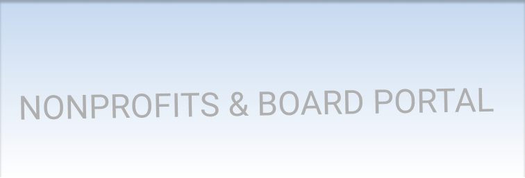 Board portal for nonprofits